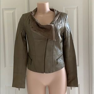 Only | Vera Leather Jacket with Front Drape M
